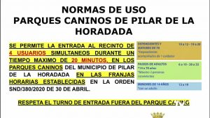 Reapertura de los parques caninos en Pilar de la Horadada