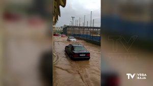 Orihuela se lleva la peor parte de la tormenta con calles inundadas y granizo
