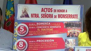Orihuela rendirá homenaje a la Virgen de Monserrate con una amplia variedad de actos