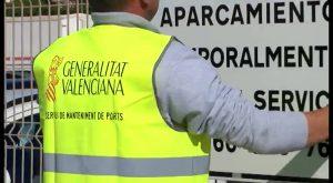 Generalitat ejecuta orden de desahucio administrativo en el parking del recinto portuario