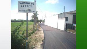 Finalizan las obras de reasfaltado y acondicionamiento del Camino La Erita de Catral
