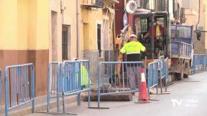 En obras varias calles de Orihuela para reducir los daños ante una nueva gota fría