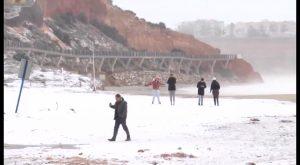 Nieva en Pilar de la Horadada y Orihuela Costa