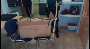 Policia local de Rojales recuperan una culebra de herradura protegida