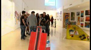 Inauguración de la Exposición Colectiva de Alumnos del Bachillerato Artístico del IES Mediterráneo