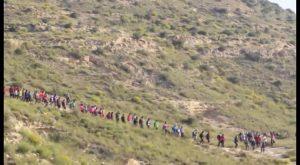 Cientos de personas participaron el domingo en la VI marcha senderista de Rojales
