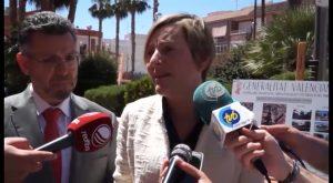 La consellera de Obras Públicas, María José Salvador, visita las obras realizadas en la CV-912