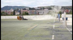 Puesta a punto de las instalaciones deportivas de Bigastro tras las inundaciones de diciembre