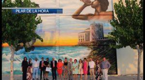Una pared inspirada en la Torre Vigía se lleva el premio del Concurso Pilareño de Pintura Mural 2017