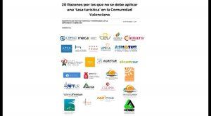 """Los empresarios en contra de la """"tasa turística"""" en la Comunidad Valenciana"""