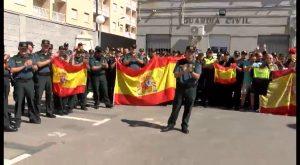 Muestra de apoyo con los compañeros desplazados a Cataluña