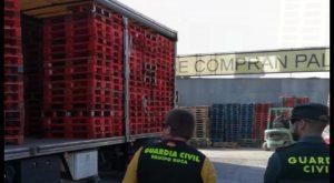 La Guardia Civil detiene a 3 personas e investiga a otras 8 por el robo de más de 4300 palés
