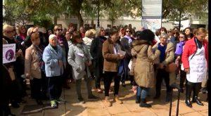 Mujeres y hombres se unen en la comarca para conmemorar el 8 de marzo