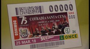 La Santa Cena estará expuesta a nivel nacional a través del cupón de la ONCE del 25 de marzo