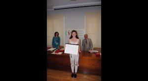 Daria Korneyko, del IES Los Alcores de San Miguel, primer premio del Concurso sobre Acoso Escolar