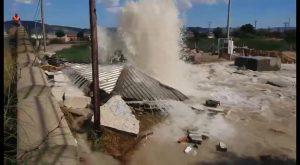 La rotura de los Tubos del Trasvase en dos puntos de Orihuela provoca grandes pérdidas de agua