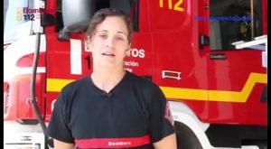 Nadia Serrano se estrena como bombera en un incendio declarado en un restaurante del Pilar
