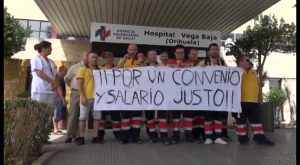 Comienza huelga indefinida de ambulancias que afecta a toda la Vega Baja