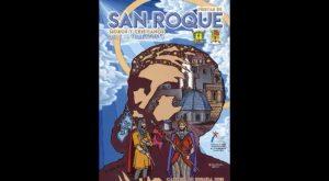 La silueta de San Roque con los monumentos más emblemáticos de Callosa, en el cartel de las fiestas