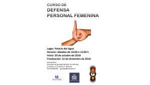 Igualdad anuncia la segunda edición del Taller de Defensa Personal