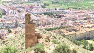 Se derrumba parte de la torre Taifal del castillo de Orihuela como consecuencia del temporal