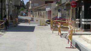 Las obras de la calle principal de Benejúzar obligan a desviar el tráfico
