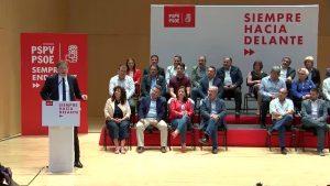 Ximo Puig arropa en Cox a los candidatos socialistas de la Vega Baja