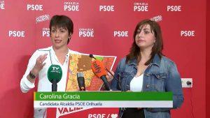 Mapa del casco urbano oriolano con las propuestas del PSOE