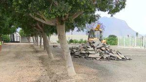 Una treintena de aparcamientos para el cementerio de Rafal