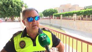 La Policía Local de Rojales impide la pesca en los malecones del casco urbano