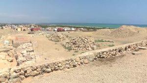 Obras de rehabilitación en la muralla del castillo de Guardamar del Segura