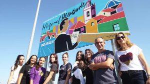 Rojales recuerda a Miguel Hernández con un gran mural a la entrada del municipio