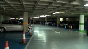 Reapertura del parking Entrepuentes de Orihuela tras las inundaciones de septiembre