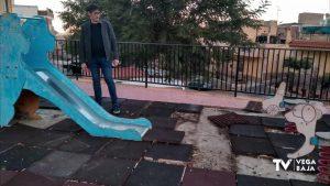 El PSOE de Callosa advierte sobre el deterioro de los juegos infantiles en zona Rambla Alta