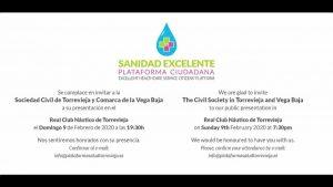 Se crea una plataforma ciudadana por la defensa de la calidad sanitaria en Torrevieja y Vega Baja