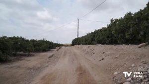 Albatera comienza el asfaltado de dos caminos rurales en el paraje de la «Dehesa» y del «Moco»