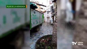 Municipios de la comarca combaten el coronavirus con desinfección en calles y espacios municipales