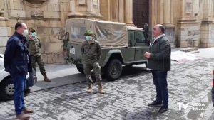Los militares llegan a la comarca para colaborar en tareas de desinfección