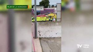 Un hombre de Pilar de la Horadada sufre un accidente laboral al caerle una plancha metálica