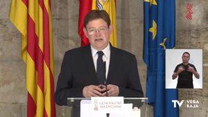 Ximo Puig pide al Ministerio que vuelva a estudiar el plan de desescalada que plantea la Generalitat