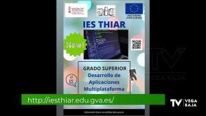 El IES Thiar amplía su oferta formativa con un Ciclo de Grado Superior de Informática