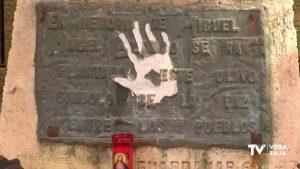 Guardamar rinde homenaje a la memoria de Miguel Ángel Blanco, asesinado por ETA hace 23 años