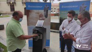 Orihuela adquiere dispensadores de gel hidroalcohólico que se colocarán por toda la ciudad