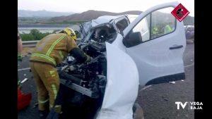 Una persona herida en un accidente en Orihuela