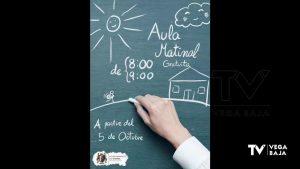Catral ofrece a los padres un servicio de aula matinal para favorecer la conciliación