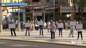 Pitada de los mercaderes frente al ayuntamiento de Guardamar