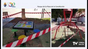 Sustitución de mobiliario de parques infantiles de Los Montesinos