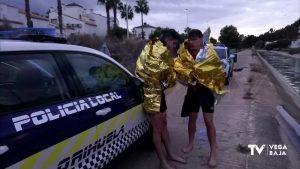 Rescatan a dos jóvenes que saltaron al canal del trasvase para socorrer a su padre
