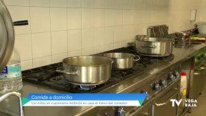 Los alumnos confinados recibirán el menú del comedor en casa