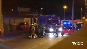 Ilesos los conductores de dos aparatosos accidentes de tráfico en Orihuela